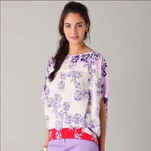 Diane Von Furstenberg silk Landy blouse small